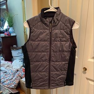 Grey and black Columbia vest